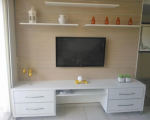 Home Theater Branco com Painel para TV LCD